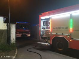 Požár kontejnerů ulice Na Drahách