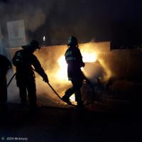 Požár kontejnerů ulice Øíční