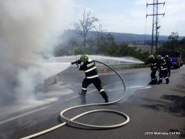 Požár OA ulice Dobřichovická