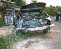 Dopravní nehoda ve Školní ulici