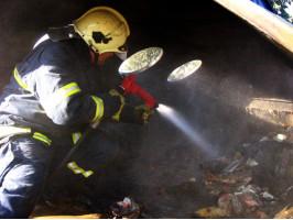 Požár kontejneru Topolská II