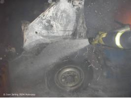 Požár auta Ford Tranzit v Šibě
