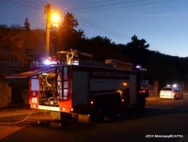 Požár sklepa RD Karlštejnská