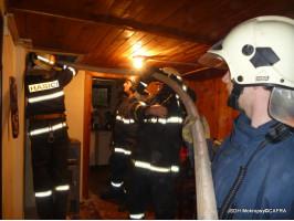 Požár chaty ulice Komenského