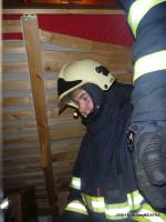 Požár sazí v komíně ulice Komenského