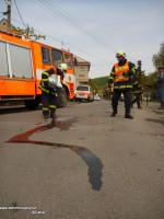 Ropná skvrna ulice Komenského