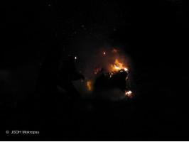 Požár kontejneru ulice Karlická