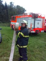 Požár stohu Roblín