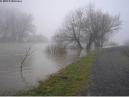 Vzestup hladiny řeky Berounky
