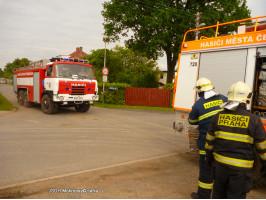 Požár komína ulice Smetanova