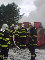 Požár velkoobjemového kontejneru ulice Ukrajinská