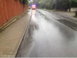 Likvidace úniku ropné látky ulice Vrážská