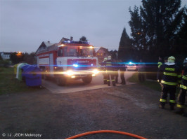 Požár velkoobjemového kontejneru ulice Topolská