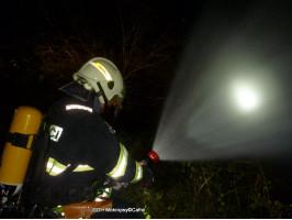 Požár chaty osada Lavičky