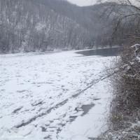 Ledová bariéra na Berounce