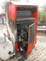 Požár kontejneru Poštovní (2008)