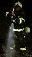 Požár louky a skládky Zbuzany