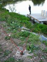 Kotvení pontonu u betonárny I