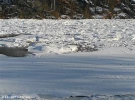 Ledové bariéry na řece Berounce