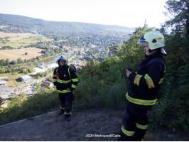 Záchrana paraglidisty kopec Staňkovka