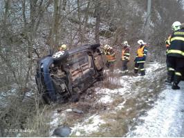 Dopravní nehoda 1xOA Dobřichovický kopec