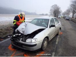 Dopravní nehoda 2xOA ulice Radotínská