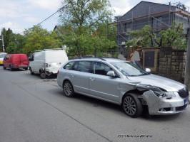 Dopravní nehoda se zraněním ulice Karlštejnská