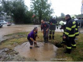 Zásahy spojené s přívalovým deštěm k.ú. Černošice